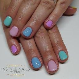 Multicoloured Pastel Nails