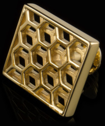 gold 'Honeycomb' cufflinks