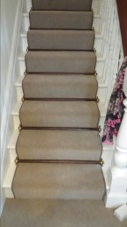 Stair Carpet Runner With Stair Rods