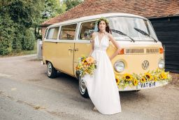 Buttercup Bus - honey cream wedding campervan hire