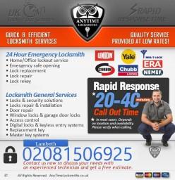 Anytime Locksmiths - Lambeth - 020 8150 6925