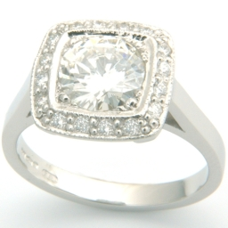 Tiffany Inspired Platinum Diamond Engagement Ring