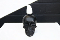 skull bottle organic skin care