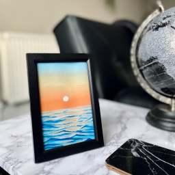 pavis paints artist framed