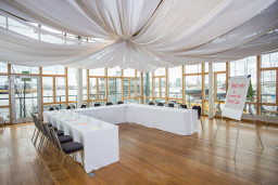 The River Rooms set up for a conference