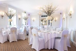 Chair Cover and table decor Herts and Essex Hire