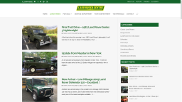 Our website for Land Rover Centre