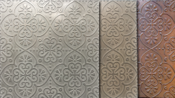 Handmade metallic wall tiles by Hazell & Gray