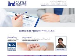 Castle Foot Health website