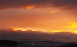 Sunset over Skye Bridge
