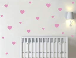 Heart Wall Decor Decals Pink