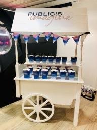 branded sweet cart hire london