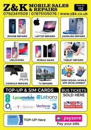 Services; mobile phone repairs, laptop repair Macb