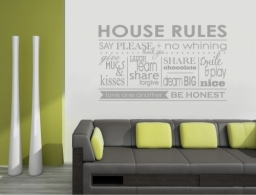 House Rules Wall Decor Sticker