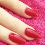 Acrylic Nails with Red IBD