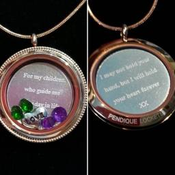 Personalised engraved rose gold locket