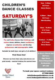 Saturday Classes Poster