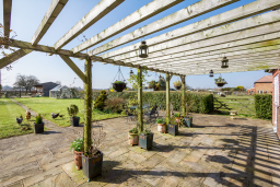 Large garden and south facing patio to enjoy