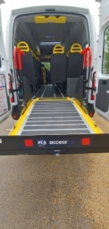 PLS Tail lift fitted to Warnerbus Minibus