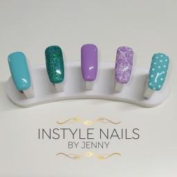 Lilac & Blue Nails