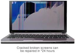 Cracked broken laptop screen