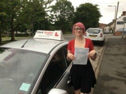 driving lessons swadlincote Rhiannon 1st time pass