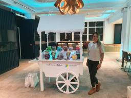 Sweet cart hire Microsoft offices london aylin swe