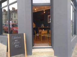 Cobblers and Coffee Entrance