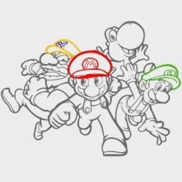 Mario and friends Wall Sticker Vinyl Decal Wall Art