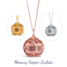 Lily Blanche Memory Keeper Lockets open to reveal
