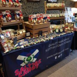 Saltire Candy Market Stall