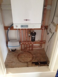 New Viessmann boiler installation