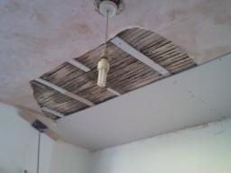 overboard of damaged ceiling
