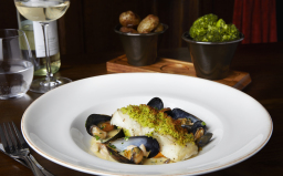 Cod Fillet with mussell & prawn cream