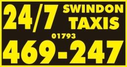 24/7 Swindon Taxis Door Signs