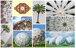 Indian Garden Umbrellas - collage
