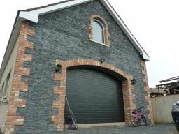 Black insulated garage door