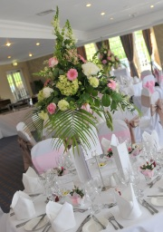 Wedding Venue Flowers by Flower Design. Ripon