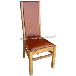 Sheesham Wood Real Red Leather Chair