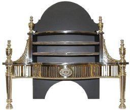 Medium Connaught brass fire basket grate