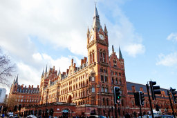 St. Pancras stn, as seen in Harry Potter movies