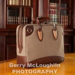 Brown Canvas Briefcase