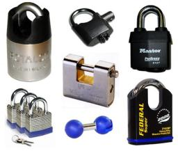 insurance approved and high security padlocks