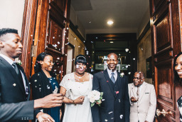 Marva & Linford's Intimate Sale Town Hall Wedding