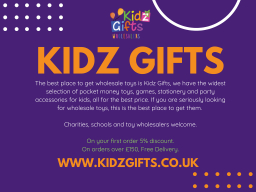 The best place to buy wholesale toys is Kidz Gifts