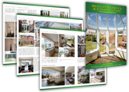 We have designed Brochures, Flyers and a website for a conservatory and Windows company. please see our website(www.footsteps-design.co.uk) for a case study and testimonial.
