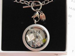 Silver Sparkle Floating Birthday Locket