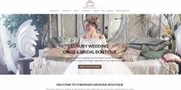Web Design for Cherished Bridal Boutique