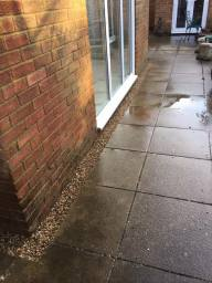 Penetrating Damp, High Ground Levels, French Drain