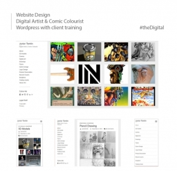 Client Website Design for Digital Artist and Comic Colourist